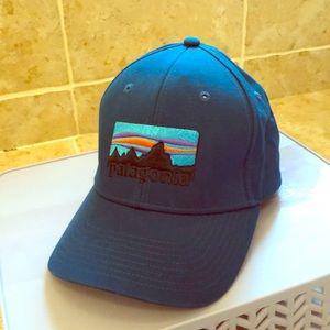 Patagonia blue baseball hat